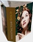 MAX FACTOR GOLD - UK PROMO PRISM COUNTER DISPLAY (1)